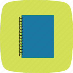 diary, document, note book, spiral notebook icon