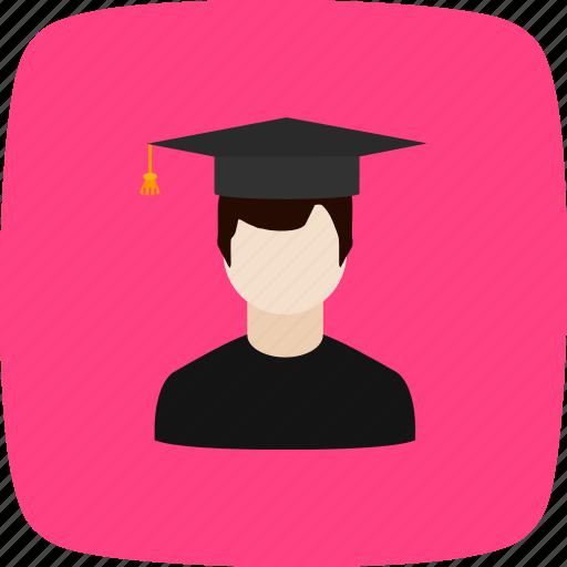 avatar, male, student icon