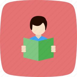 education, reading, student, study icon