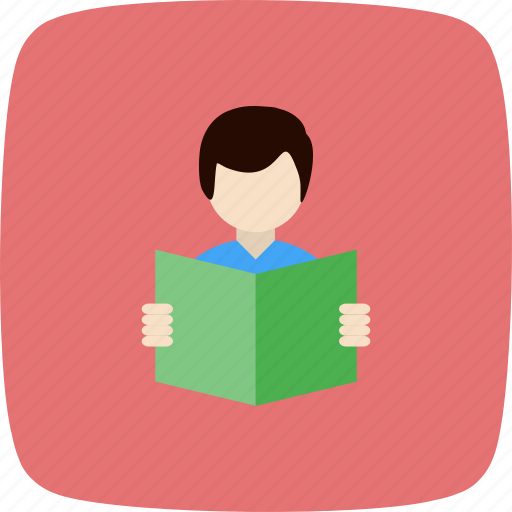 education, reading, student icon