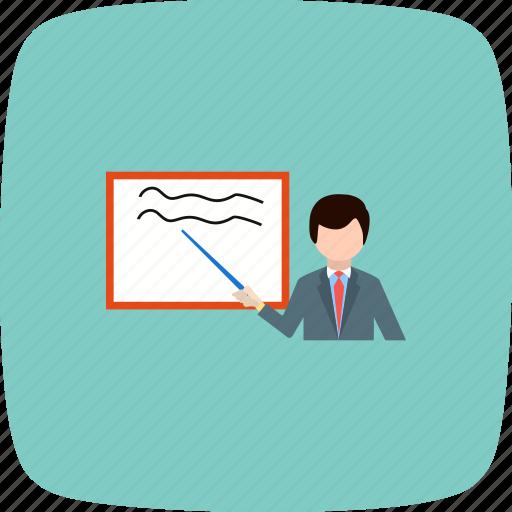 board, learning, presentation, teach, teaching icon