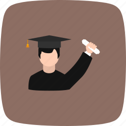 certification, degree, diploma, getting degree icon