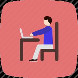 communication, internet, laptop, technology, work icon