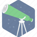 astronomy, science, telescope icon