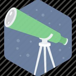 astronomy, science, telescope icon
