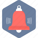 alarm, bell, ring, school icon