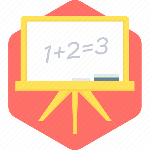 blackboard, board, calculation, education, math, maths, school icon