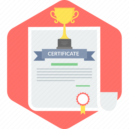 achievement, certificate, certification, degree, diploma, document icon