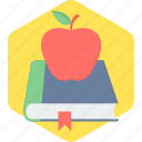 education, book, apple