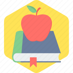 apple, book, education icon