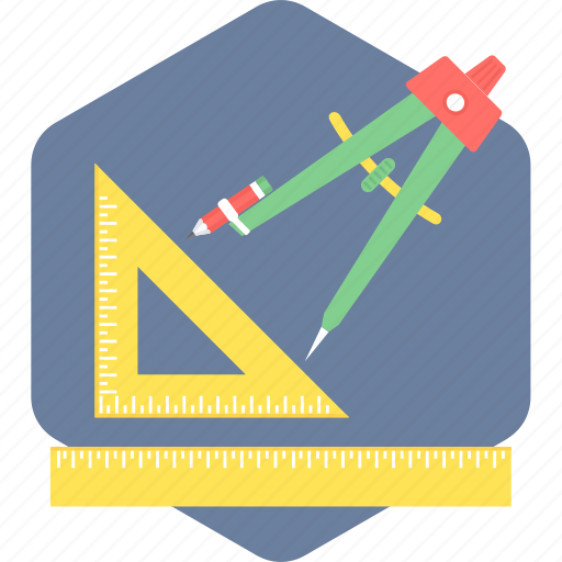 drawing, geometry, ruler, tool, triangle icon
