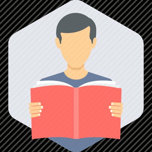 boy, education, learning, reading, study, studying icon