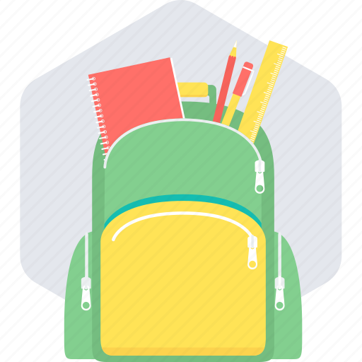 bag, book, education, geometry, school, school bag icon