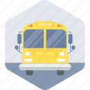 bus, school, transport, transportation, van icon