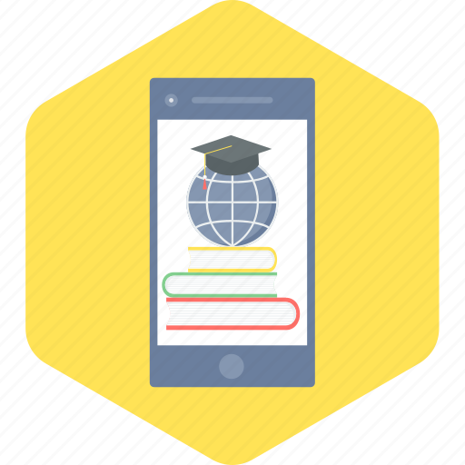 education, learning, mobile, smartphone icon