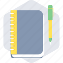 book, note, notebook, school, study icon