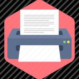 document, paper, print, printer icon