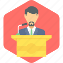 speech, boy, communication, message, podium, student