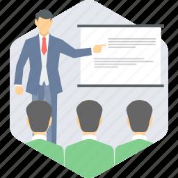 classroom, learning, school, teacher, teaching icon