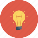energy, idea, light, lightbulb icon