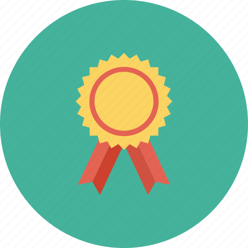 award badge, badge, ribbon badge, star badge icon, • award icon