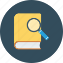 book, explore, research, search icon icon
