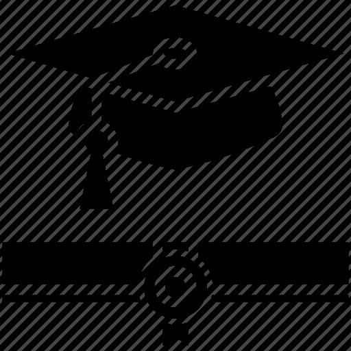 Degree, graduation, graduation degree, mortarboard, scholar icon icon - Download on Iconfinder