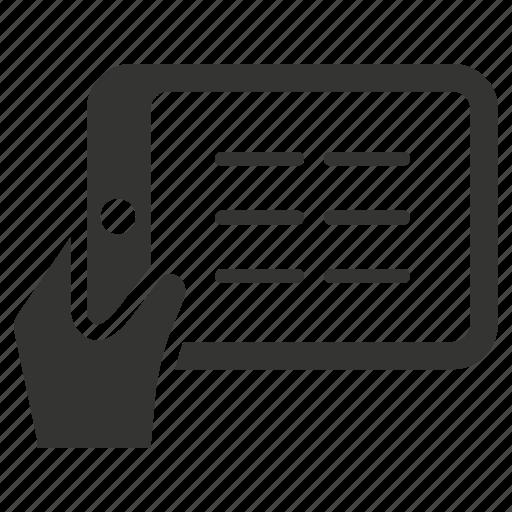 e learning, ipad, reading, tablet icon
