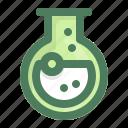 bottom, flask, chemistry, round, research, laboratory, testtube