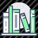 books, bookshelf, shelf icon