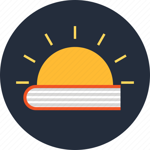 Book, education, knowledge, light, sun icon - Download on Iconfinder