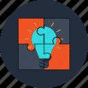 idea, puzzle, solution
