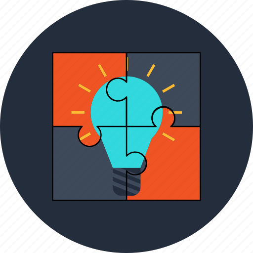 idea, puzzle, solution icon