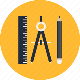 compass, pencil, ruller icon