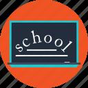 blackboard, school