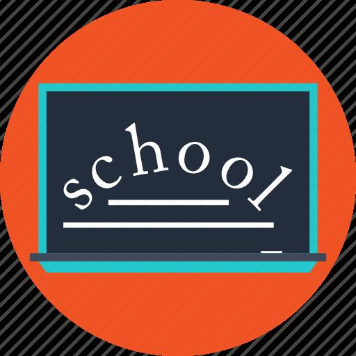 blackboard, school icon