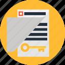document, file, key, keyword