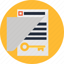 document, file, key, keyword icon
