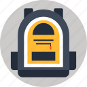 backpack, knapsack, rucksack icon