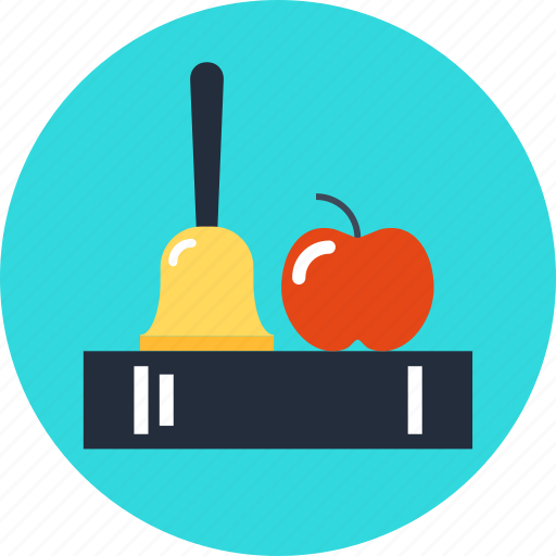 Apple, bell, book, education, knowledge icon - Download on Iconfinder