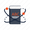 abc, book, education, knowledge, physics, school, science icon