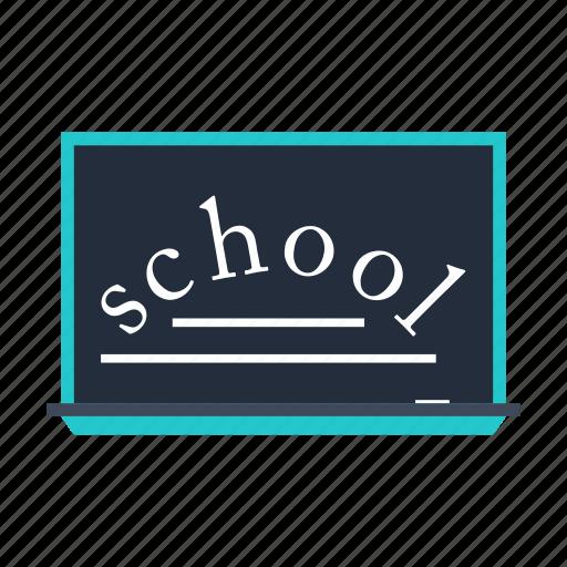 blackboard, chalk, chalkboard, education, school icon