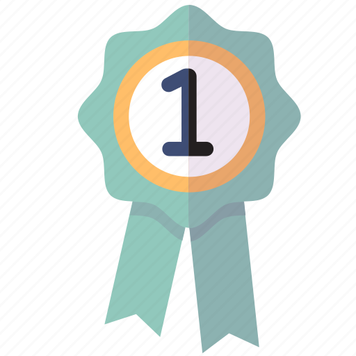 Achievement, first place, ribbon, school award icon - Download on Iconfinder