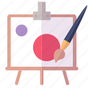 art, paint brush, painting icon
