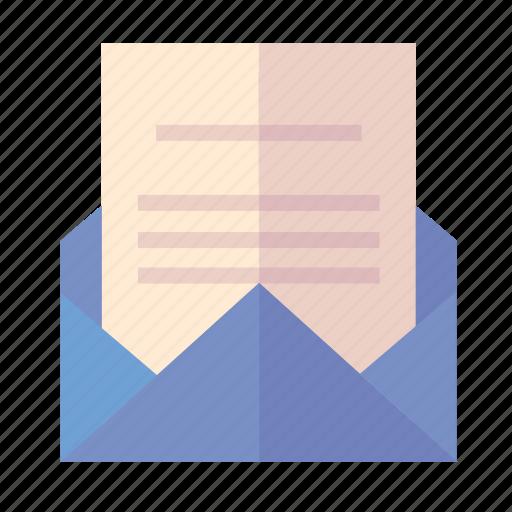envelope, letter, school admission icon