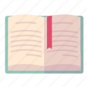 literature, reading, school book icon