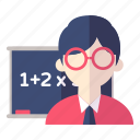 learn, school, teacher icon