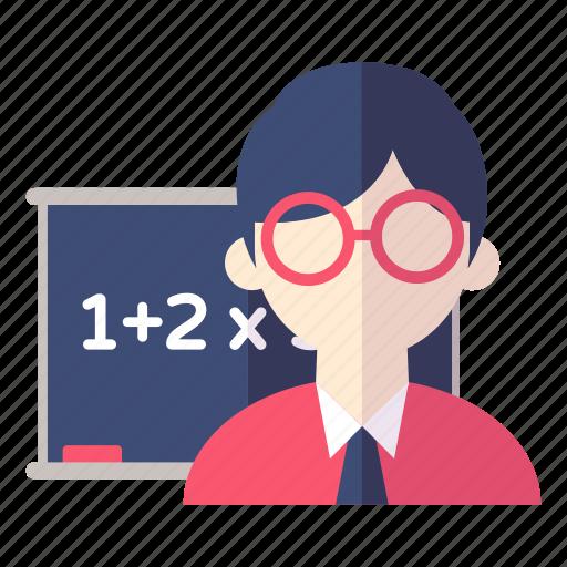 learn, school, teacher icon
