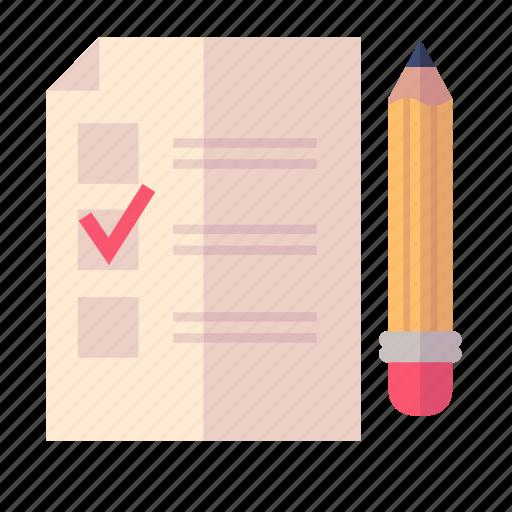 exam, pencil, school test icon