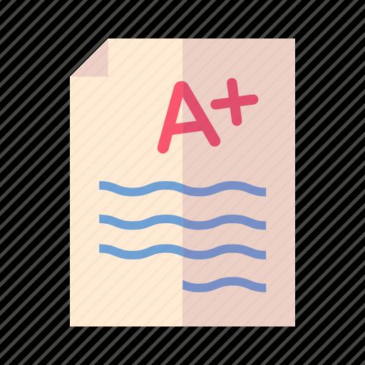 exam, school test, school testing icon